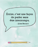 French quote poster - Jules Renard