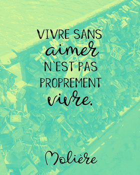 French quote poster - Moliere