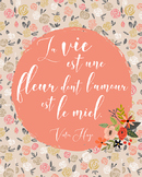 French quote poster - Victor Hugo
