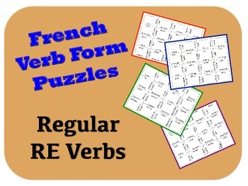 """French """"re"""" Verb Puzzle Activity"""