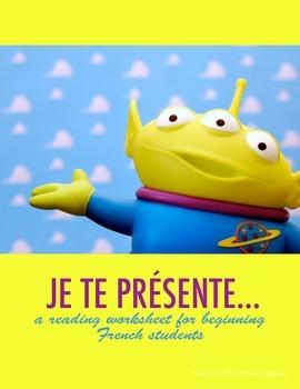 French reading: Je te présente...