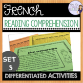French reading comprehension activities for advancing beginners