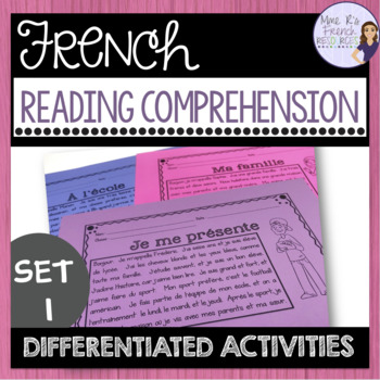 French reading comprehension activities for beginners COMPRÉHENSION DE LECTURE