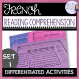 French reading comprehension activities for beginners COMP
