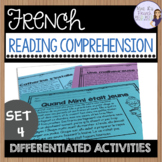 French reading comprehension for intermediate students COMPRÉHENSION DE LECTURE