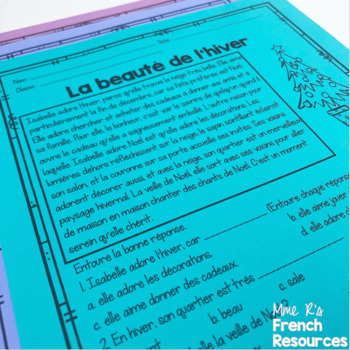 French reading comprehension for beginning students COMPRÉHENSION DE LECTURE