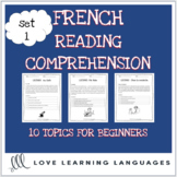 French reading comprehension texts and questions for begin