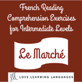 French reading comprehension texts and questions for lower intermediate levels