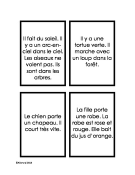 French reading comprehension game - Jeu de lecture pour tableaux blancs