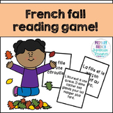 French fall / l'automne - reading comprehension whiteboard game