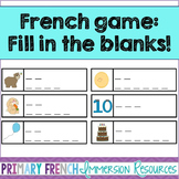 French reading game - Fill in the blanks - Jeu de lecture