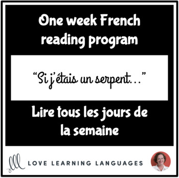 French reading program - Lire tous les jours de la semaine #42