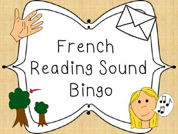 French reading sound bingo - Les sons de lecture