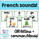 French reading sounds/blends posters - Les affiches des sons de lecture