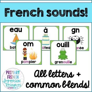 French reading sounds/blends posters - Les affiches des sons de lecture