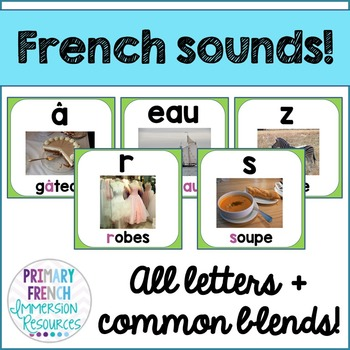 French reading sounds/blends posters - Les affiches des so