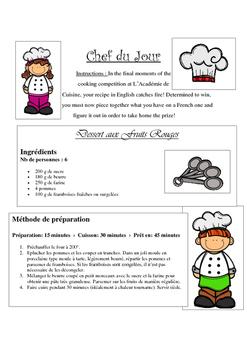 French recipe interpretation for Beginners