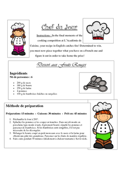 French recipe interpretation for Beginners