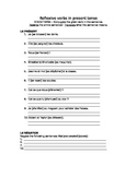 French reflexive verb practice pack