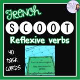 French reflexive verbs Scoot + task cards/cartes à tâches, verbes pronominaux