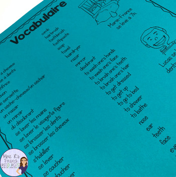 French reflexive verbs bingo / les verbes pronominaux