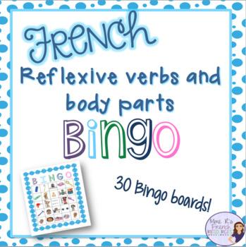 French bingo reflexive verbs LES VERBES PRONOMINAUX