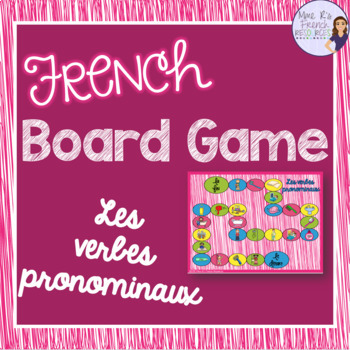 French reflexive verbs board game