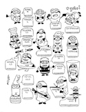 French regular ER, RE, IR-verb conjugation fun worksheet M
