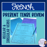 French regular and irregular verb review packet RÉVISION D