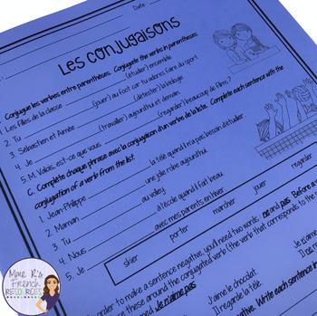 French regular and irregular verb review packet RÉVISION DES VERBES