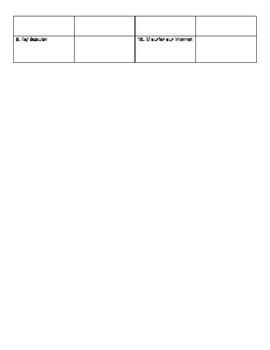 French -er regular verbs in the present tense notes, practice worksheet.