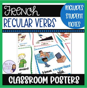 French regular verbs conjugation posters