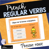 French regular verbs in present tense BOOM CARDS French Di