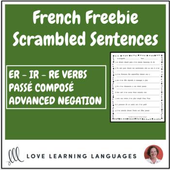 Distance Learning - French scrambled sentences - Passé Composé - Negation