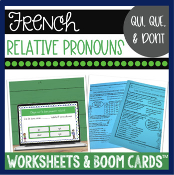 French relative pronouns LES PRONOMS RELATIFS