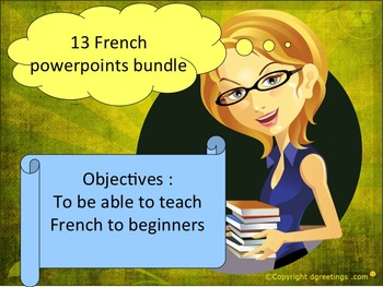 French resource bundles for beginners 2