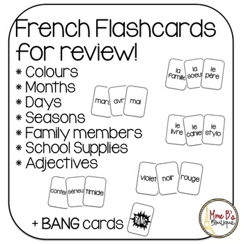 French review flashcards (BANG game)