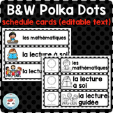 French schedule cards POLKA DOTS