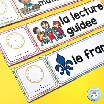 French schedule cards RAINBOW DOTS