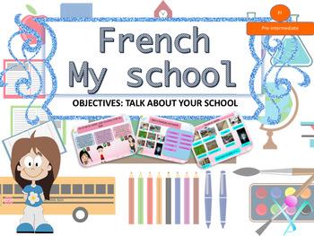 French school description PPT for pre-intermediate