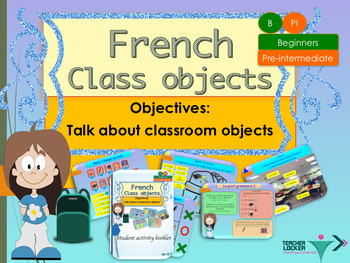 French school objects, full lesson for beginners