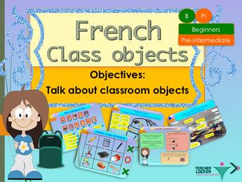 French school objects, les objects de la classe PPT for beginners