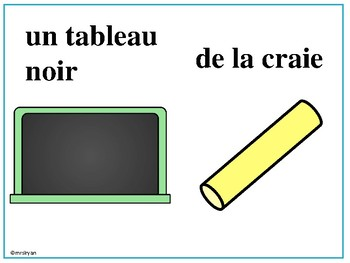 French school objects vocabulary – dans la classe - presentation