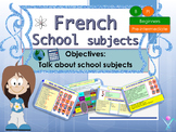 French school subjects, les matières scolaires interactive