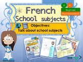 French school subjects, les matières scolaires booklet for beginners