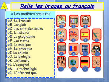 french school subjects les mati res scolaires booklet for beginners. Black Bedroom Furniture Sets. Home Design Ideas
