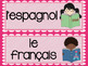 French school subjects speaking and writing bundle LES MATIÈRES