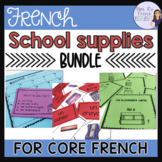 French school supplies and avoir conjugations speaking and writing activities