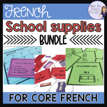 French school supplies speaking and writing activities BUNDLED