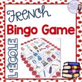 French bingo school supplies L'ÉCOLE